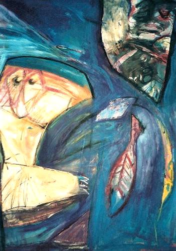 Vissen. gemengde techniek . 60-80 1991
