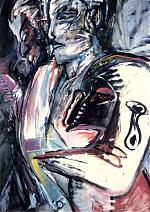 De traan. gemengde techniek/papier. 60-80. 1986