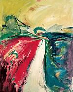 De weg. acryl/papier 80-100. 1998