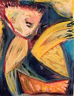 Vluchtig. krijt/acryl/papier. 60-80. 1991