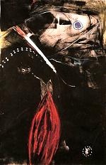 zomeravond. krijt/acryl/papier. 80-100 1991