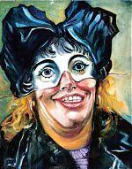 de zottin. (uit 9 zelfportretten) olieverf.30-40. 1993