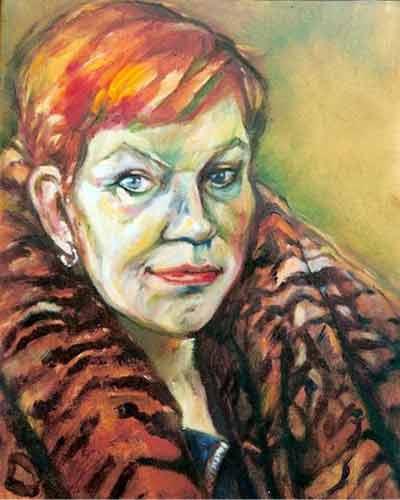 Anne Wagenaar. olieverf. 30-40. 1993