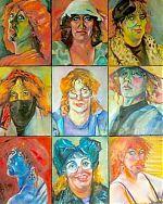 Serie van negen zelfportretten van 30-40. 1993
