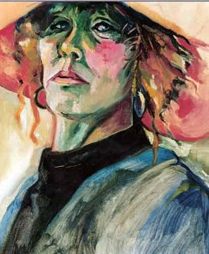 zelfportret.olieverf op linnen.30-40 1992
