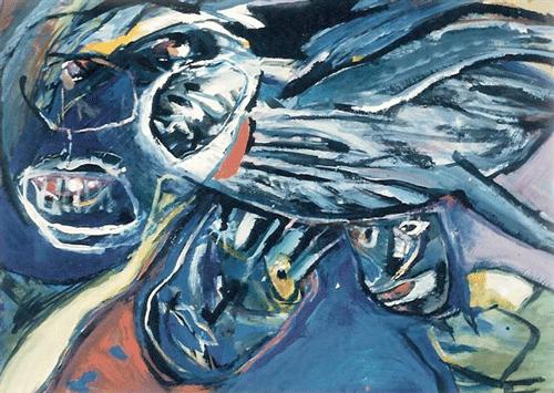 Overvliegende-hond.-gemengede-techniek-60-80-1986
