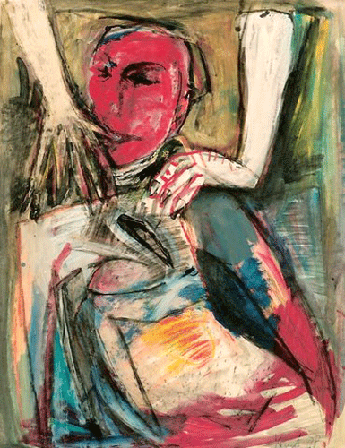 Pijn.60-80-aqryl-en-gouache-1988