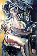 Vrouw-die-zich-ergens-aan-vast-houdt.-gouache-60-80-1986