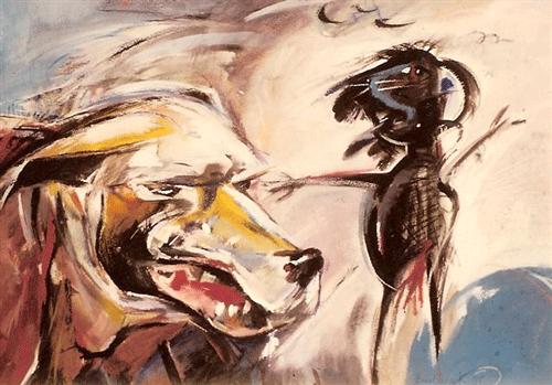 Hond-en-muis.--gouache-60-80-1985