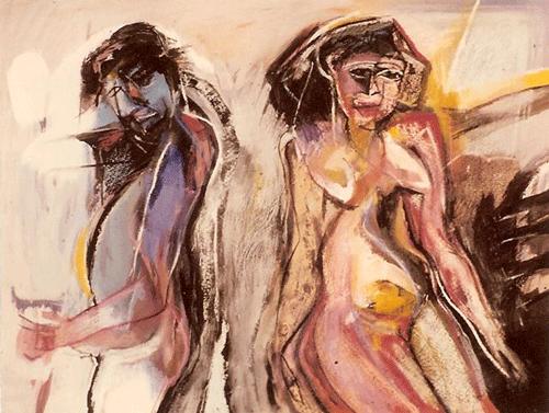 Man-en-vrouw.-gemengde-techniek-60-80-1985
