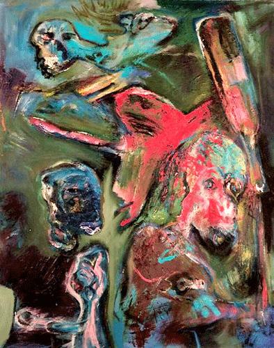 Lege-fles-80-100-Olieverf-op-linnen-1989